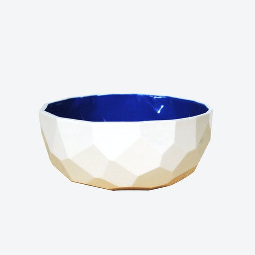 Cobalt Blue Poligon Fruit Bowl