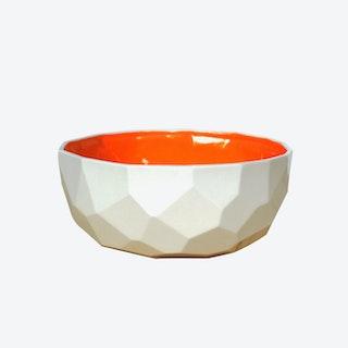 Bright Orange Poligon Fruit Bowl