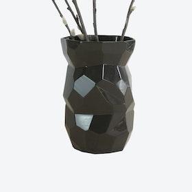Poligon Black Vase