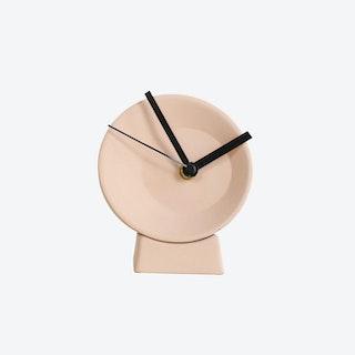 Pink Off Center Desk Clock