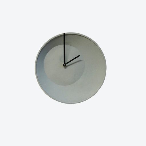 Grey Off Center Wall Clock