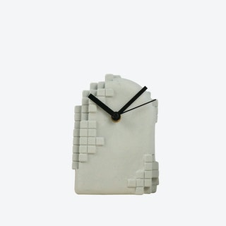 Pink Pixel Desk Clock