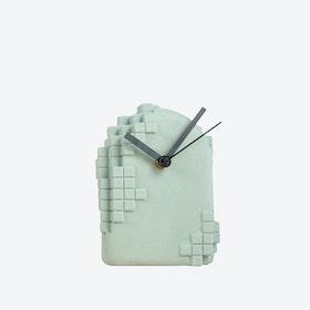 Grey Pixel Desk Clock