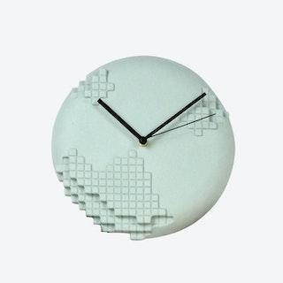 Green Pixel Wall Clock