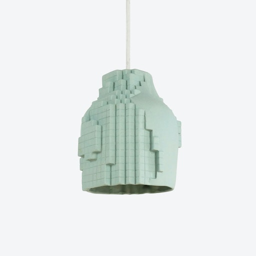 Green Pixel Pendant Lamp