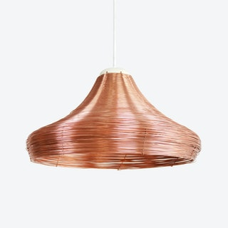 Copper Braided Pendant Lamp – Wide