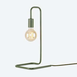 London Table Lamp, Olive Green