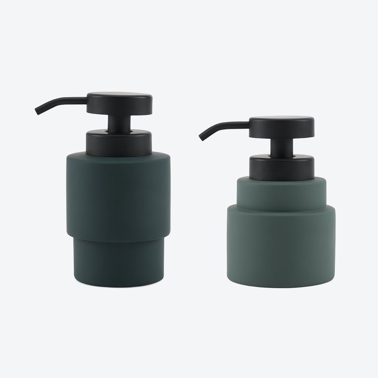 Shades Dispenser Set in Pine Green