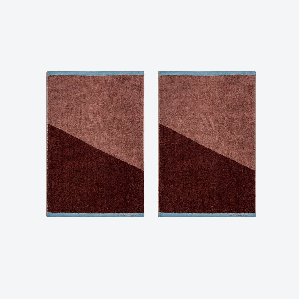 Shades Guest Towel (Set of 2) in Wine