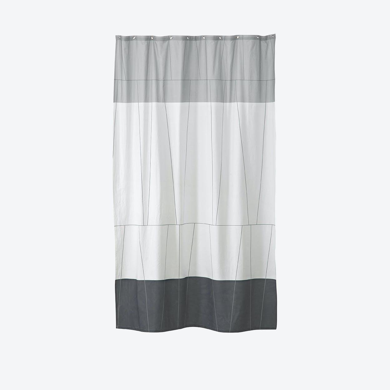 Verdi Shower Curtain in Grey