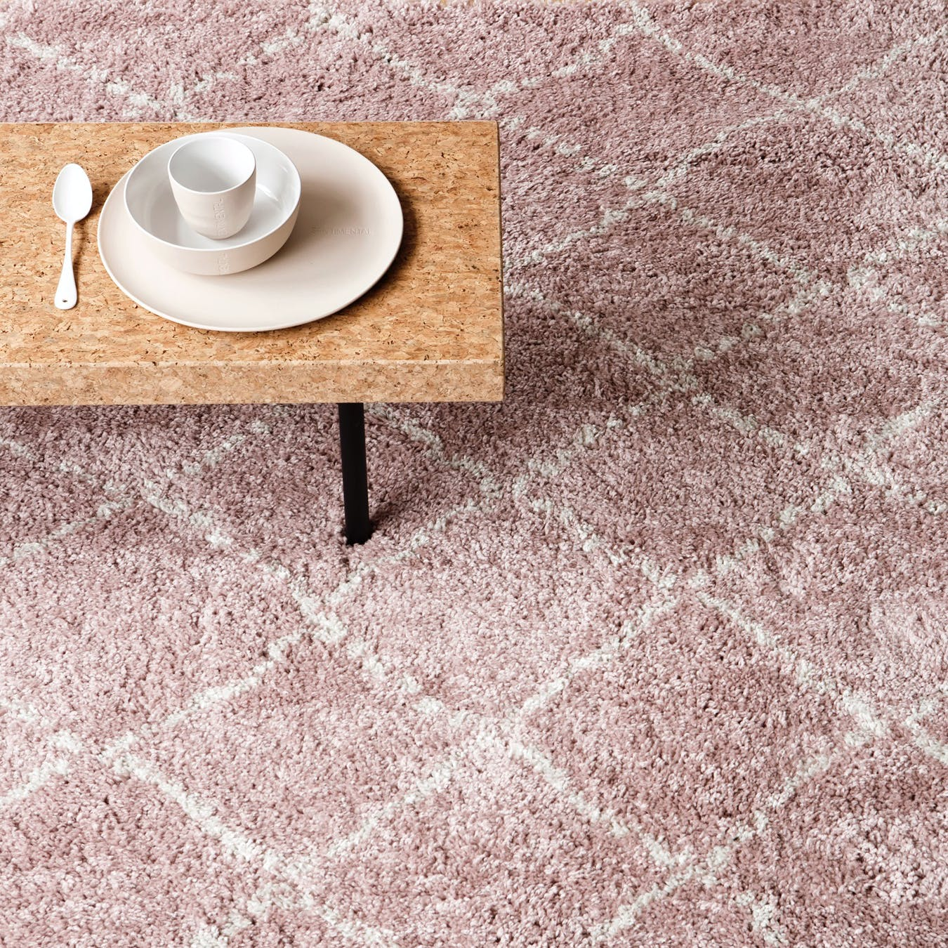 "Shaggy Rug ""Nomad"" in Pink (120x170 cm)"