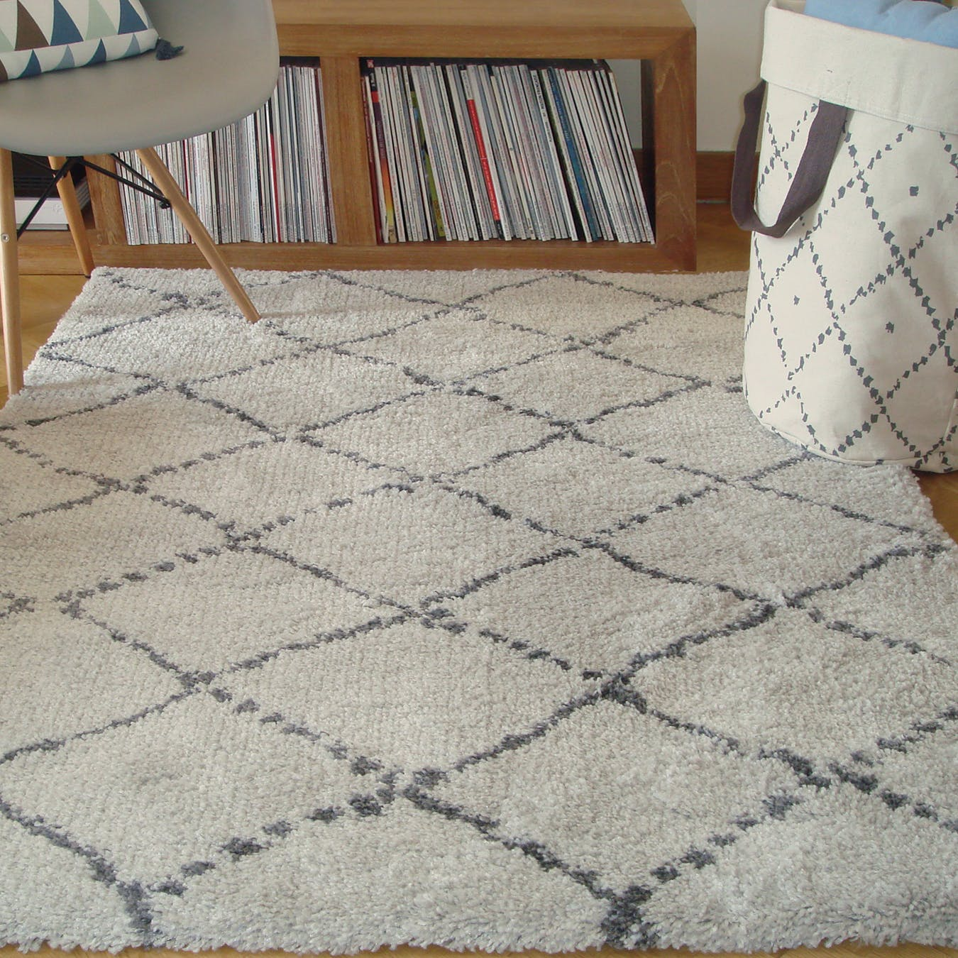 "Shaggy Rug ""Nomad"" in Beige"