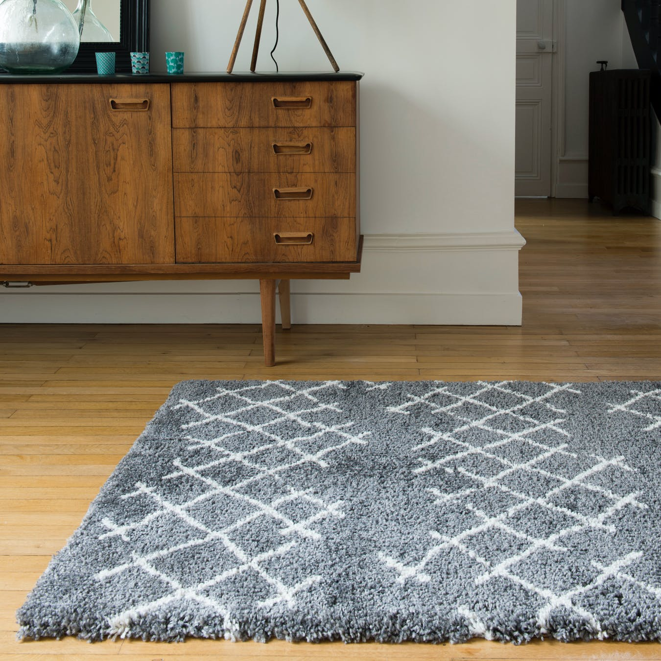"Shaggy Rug ""Voyager"" in Grey (120x170 cm)"