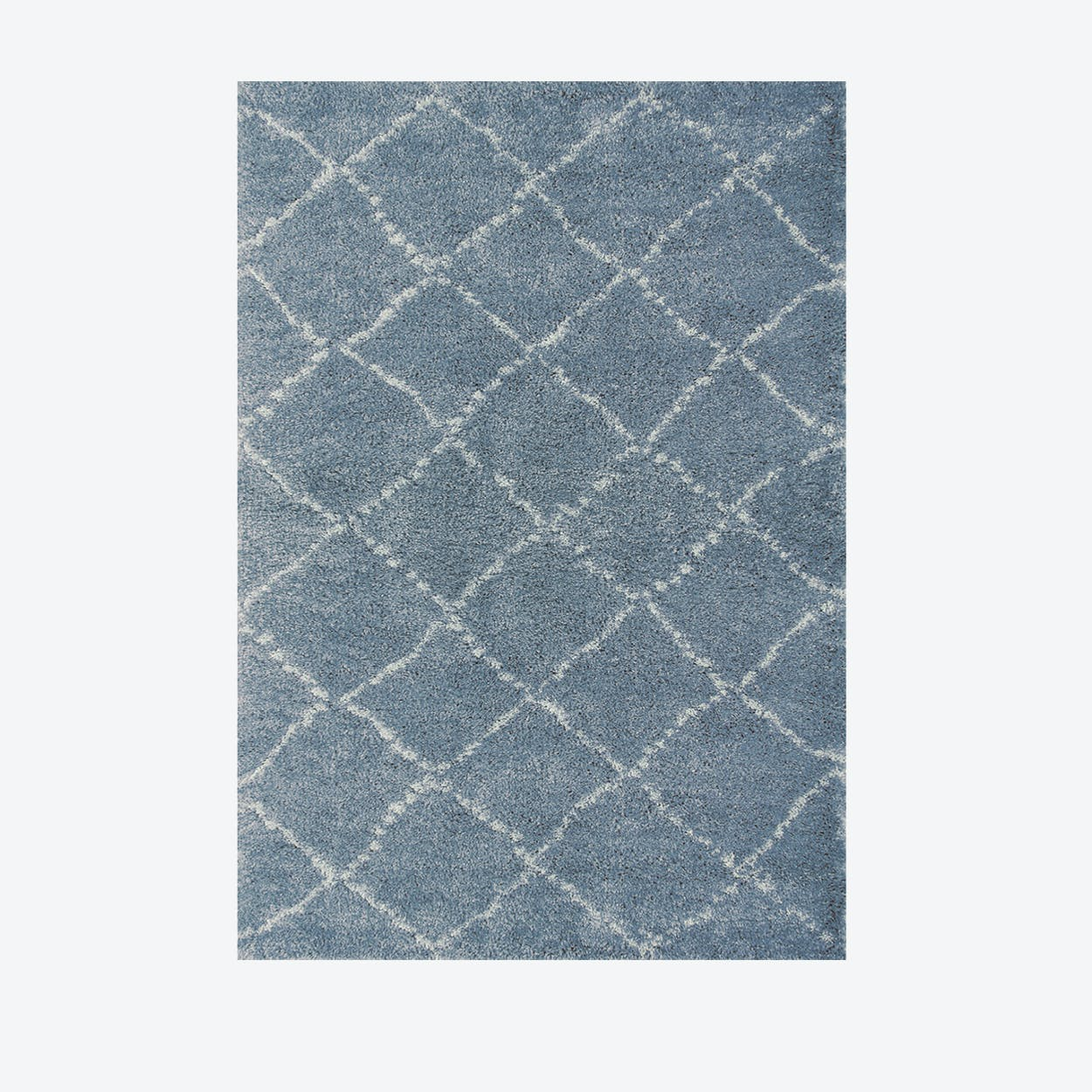 """Shaggy Rug """"Nomad"""" in Blue (120 x 170 cm)"""