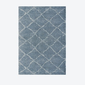 "Shaggy Rug ""Nomad"" in Blue (120 x 170 cm)"
