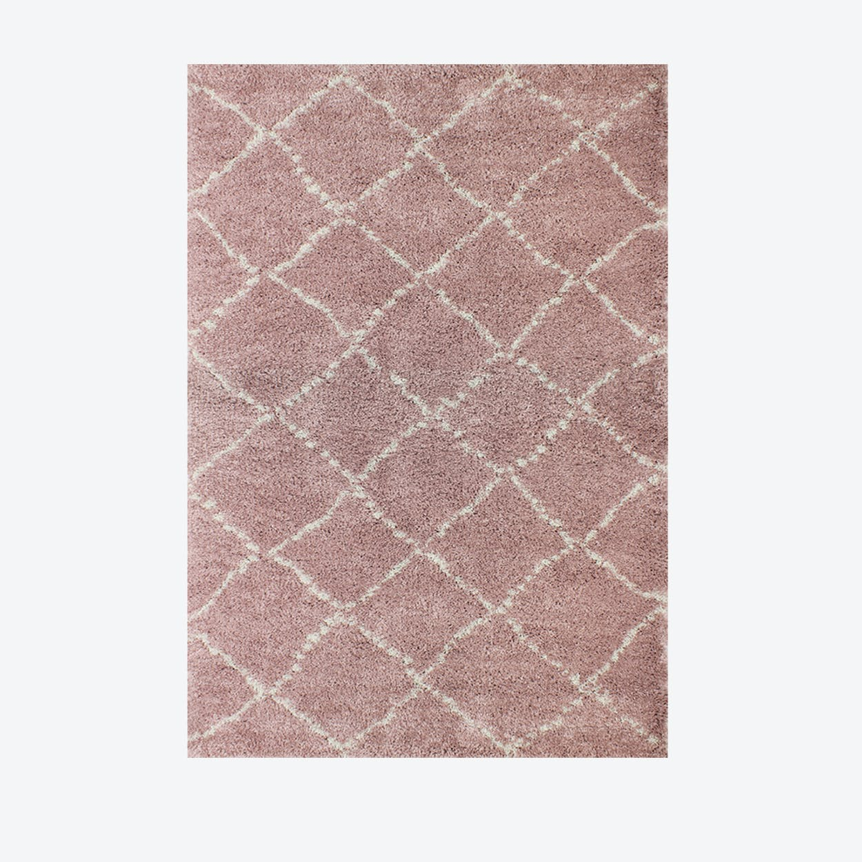 """Shaggy Rug """"Nomad"""" in Pink (120x170 cm)"""