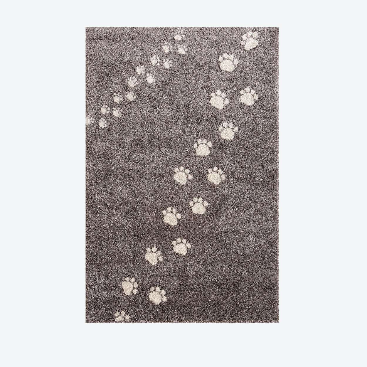 Footprints Rug in Grey (135x190 cm)
