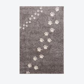 Footprints Rug in Grey (135x190 cm)