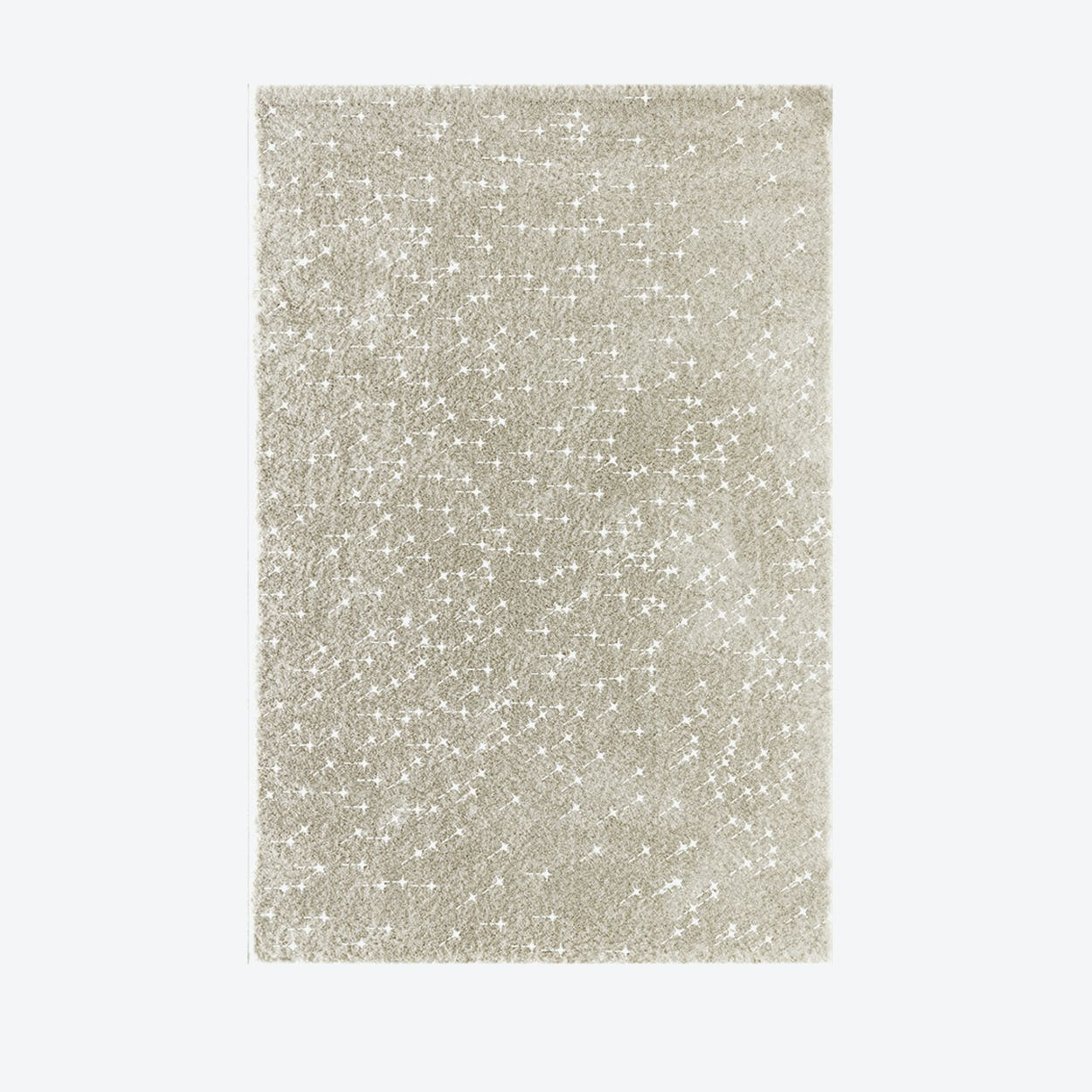 """Shiny Rug """"Sparkle"""" in Beige"""