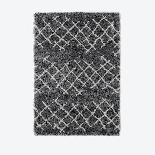 "Shaggy Rug ""Voyager"" in Grey (120x170 cm)"