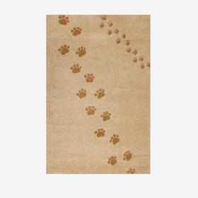 Footprints Rug in Beige (135x190 cm)