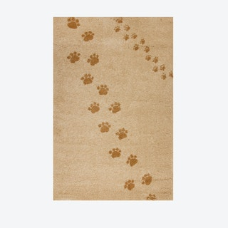 Footprints Rug in Beige (135x190 cm)