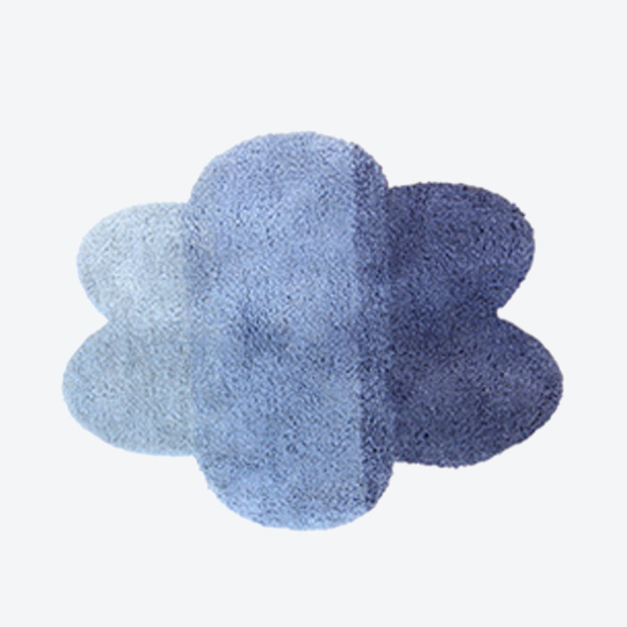 "Cloud Rug ""Gradient"" in Blue (100x130cm)"