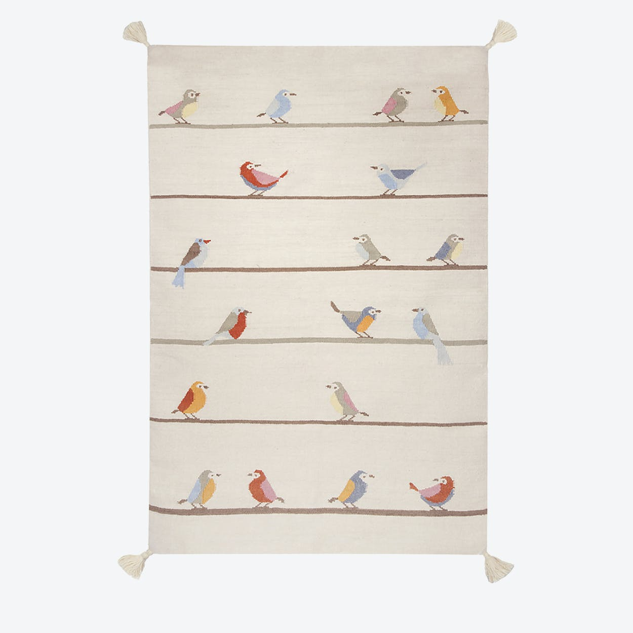 "Kilim Rug ""Birds"""