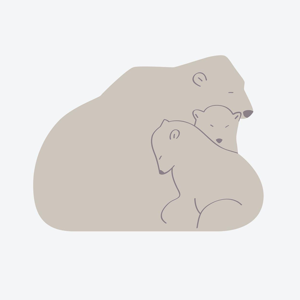 """Vinyl Rug """"Family Bear"""" (100x150 cm)"""