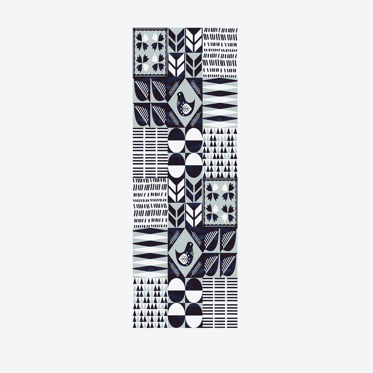 """Vinyl Runner """"Scandi Tiles"""" (80x200cm)"""