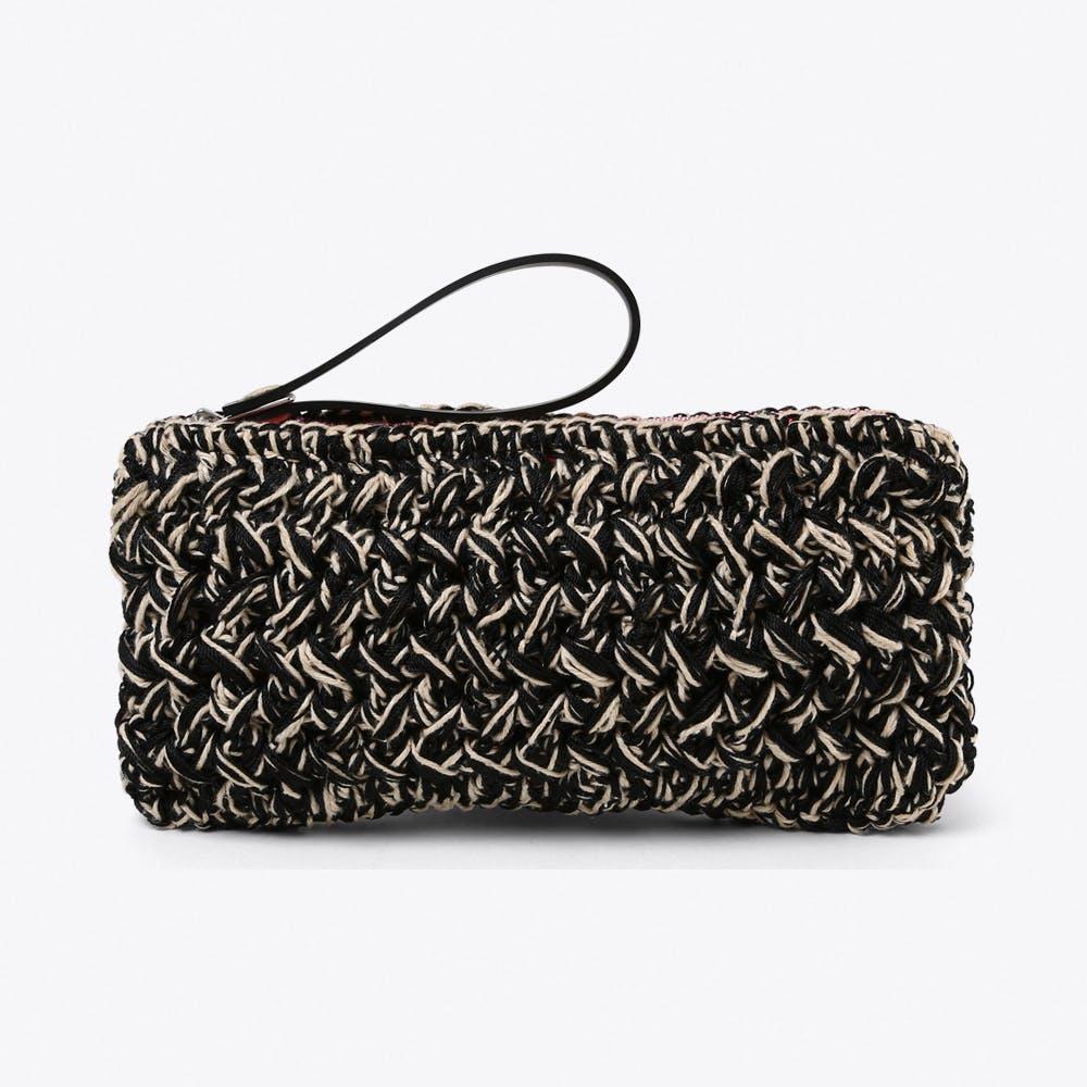 Neon Crochet Clutch Large