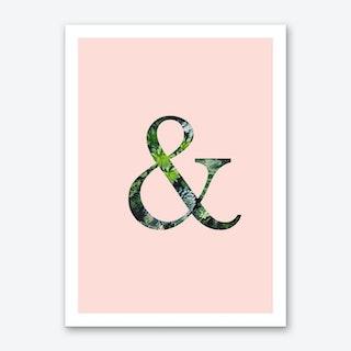 Succulent Ampersand Art Print
