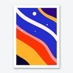 Whimsical Waves Art Print