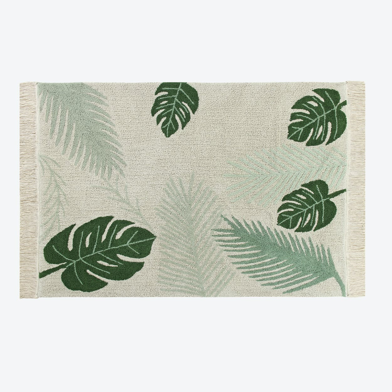 Washable Rug Tropical Green