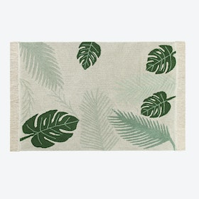 Washable Rug Tropical Green