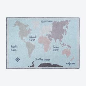 Washable Rug Vintage Map