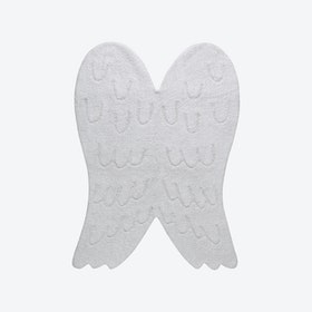 Washable Rug Wings Silhouette