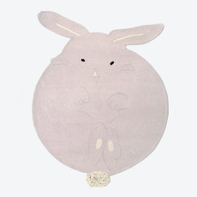 Wool Rug Chubby The Bunny