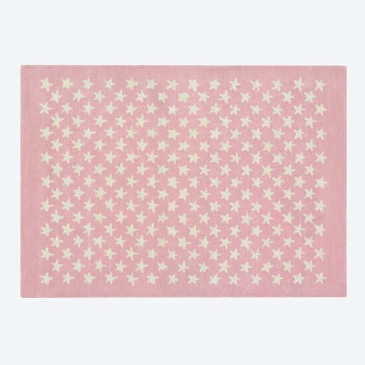 Wool Rug Little Star Soft Pink