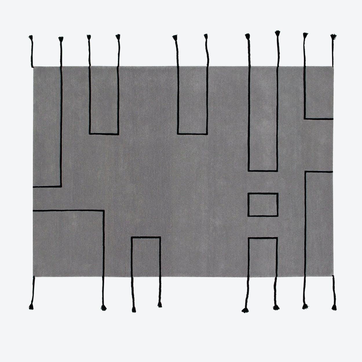 Wool Rug Nordic Lines Light Grey
