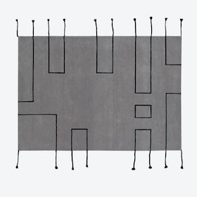 Wool Rug Nordic Lines Light Grey