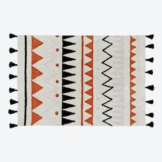 Washable Rug Azteca Natural-Terracota