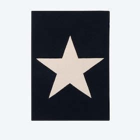 Wool Rug Big Star Black
