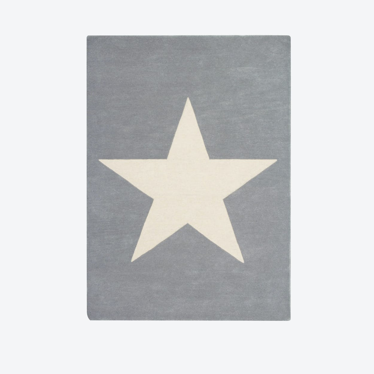 Wool Rug Big Star Light Grey