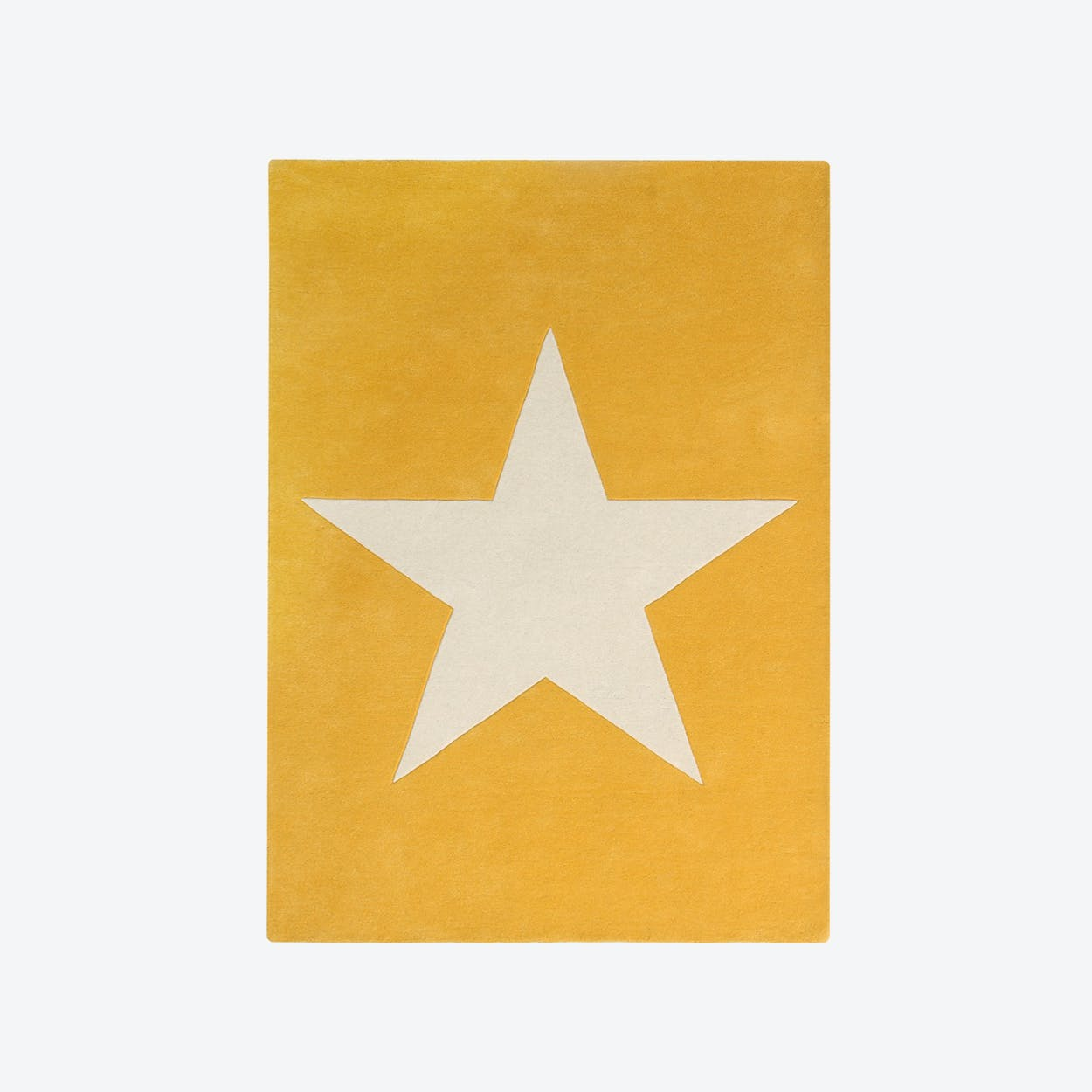 Wool Rug Big Star Mustard