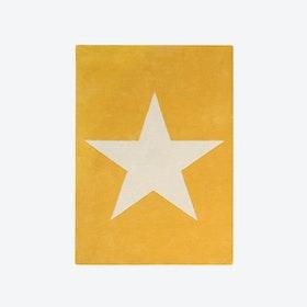 Wool Rug Big Star Mustard