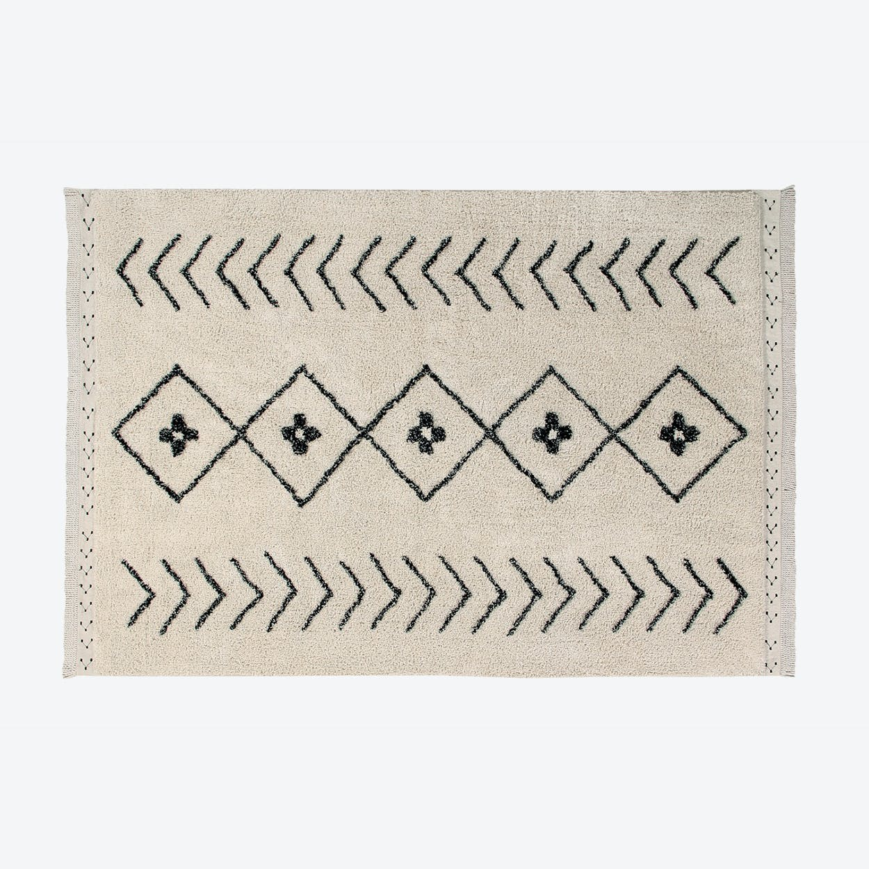 Washable Rug Bereber Rhombs