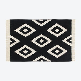 Washable Rug Black&White Diamonds
