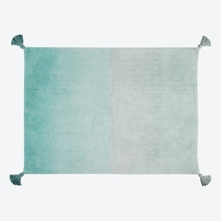 Washable Rug Ombré Emerald