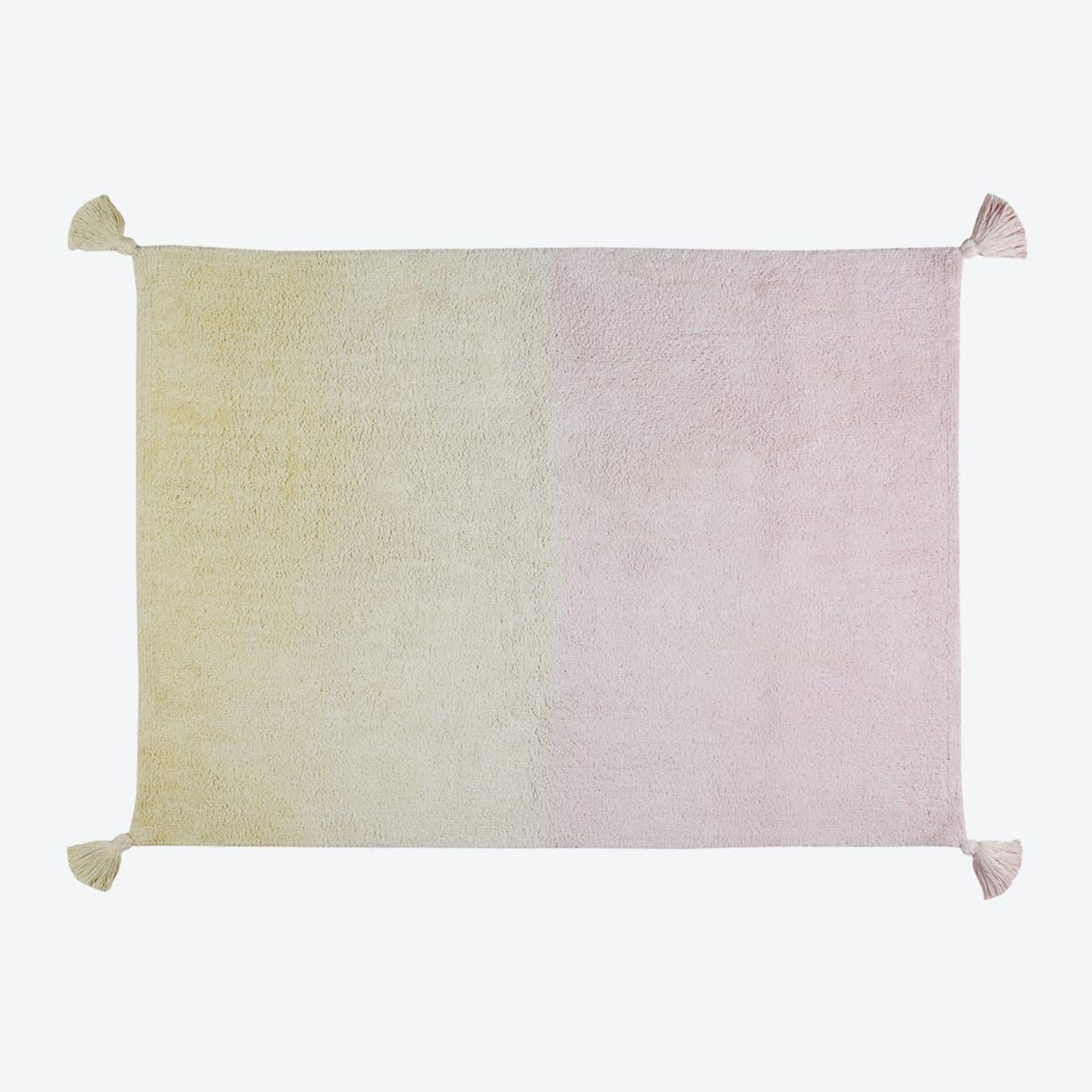 Washable Rug Ombré Vanilla-Soft Pink